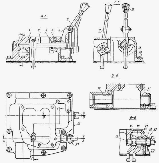 Схема коробки передач т25