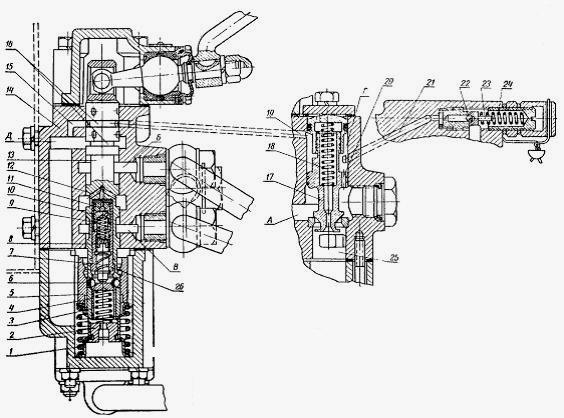 трактора схема гидрораспределитель